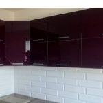 fronty lakierowane fioletowe białe połysk narożna klapy uchwyt aluminiowy